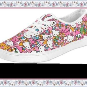 Hello Kitty Vans Sneakers Shoes size 8